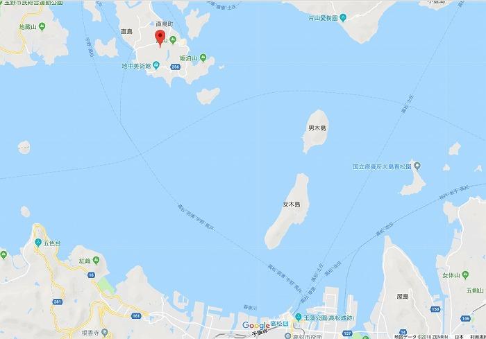 高松港-宮浦港をフェリー(あさひ)で移動